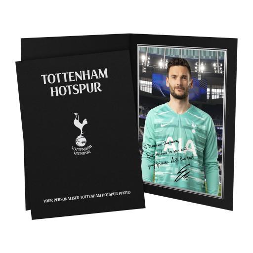Tottenham Hotspur Lloris Autograph Photo Folder