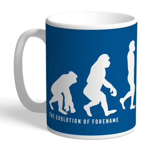 Personalised Leeds United FC Evolution Mug.