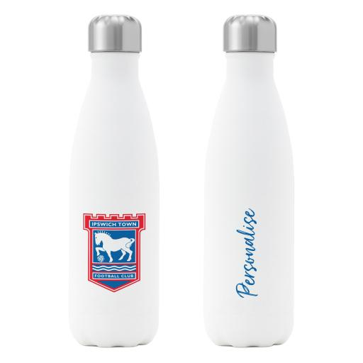 Ipswich Town FC Crest Insulated Water Bottle - White