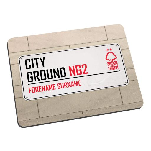 Nottingham Forest FC Street Sign Mouse Mat