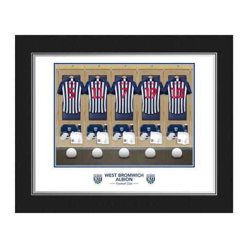 Personalised West Bromwich Albion FC Dressing Room Photo Folder.