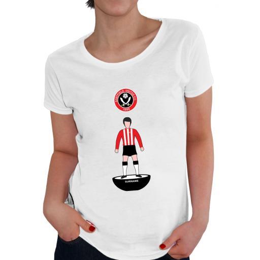 Sheffield United FC Player Figure Ladies T-Shirt