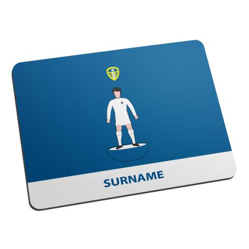 Personalised Leeds United FC Player Figure Mouse Mat.