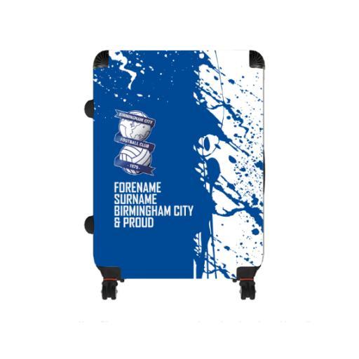 Personalised Birmingham City Proud Large Suitcase.