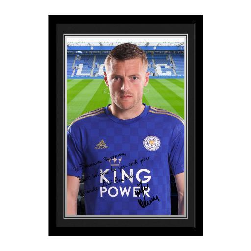 Leicester City FC Vardy Autograph Photo Framed