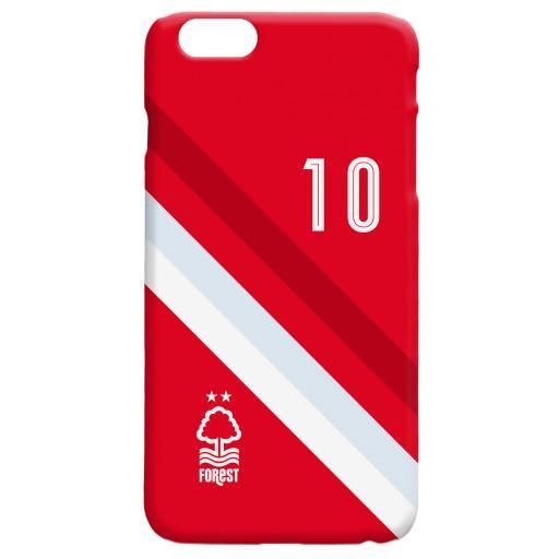 Nottingham Forest Stripe Hard Back Phone Case