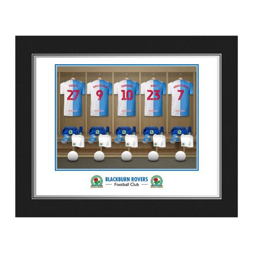 Personalised Blackburn Rovers FC Dressing Room Photo Folder.