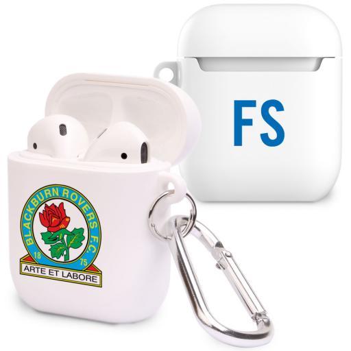 Personalised Blackburn Rovers FC Initials Airpod Case.