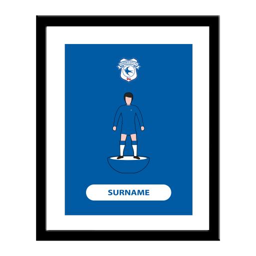 Cardiff City Player Figure Print