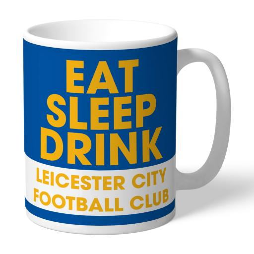 Leicester City FC Eat Sleep Drink Mug