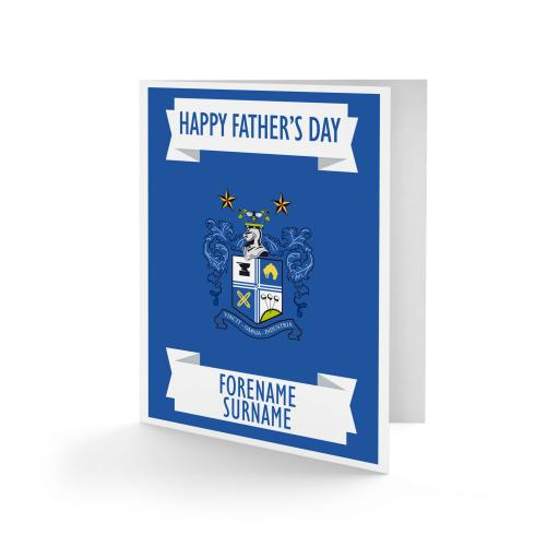 Bury FC Crest Father's Day Card
