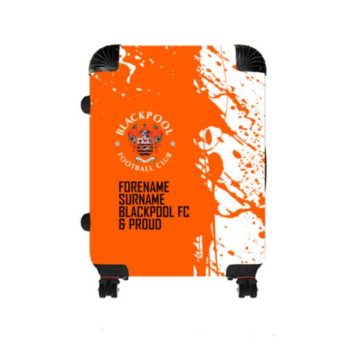 Personalised Blackpool Proud Large Suitcase.