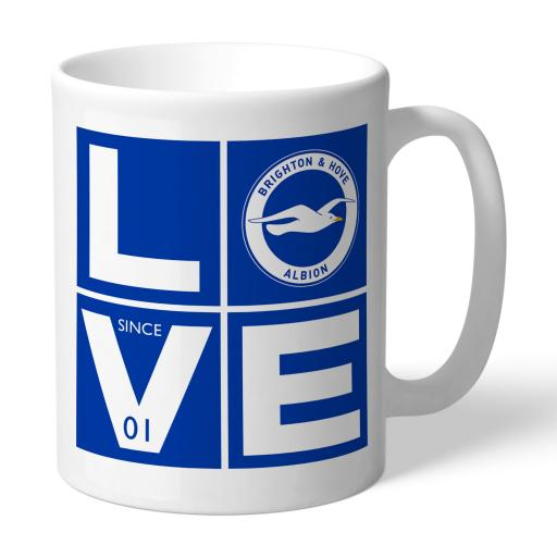 Personalised Brighton & Hove Albion FC Love Mug.