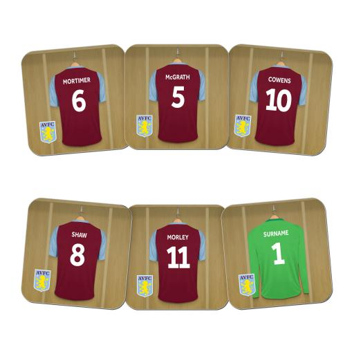 Aston Villa FC Legends Goalkeeper Dressing Room Coasters