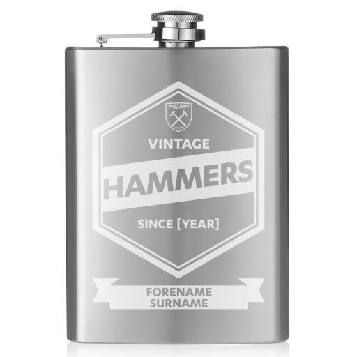 West Ham United FC Vintage Hip Flask