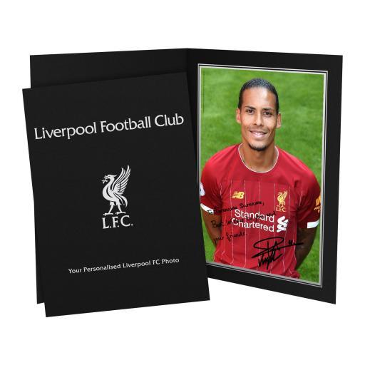 Liverpool FC Van Dijk Autograph Photo Folder