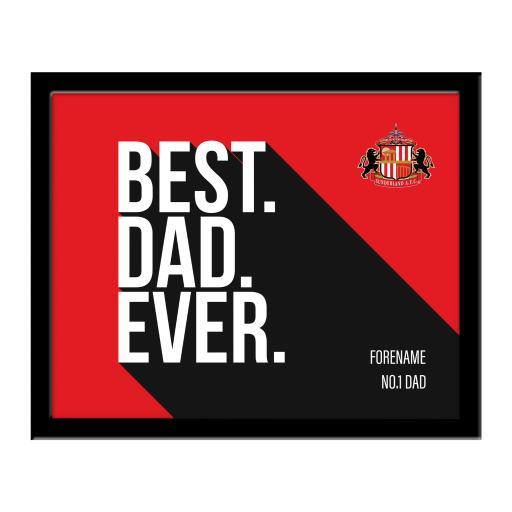 Sunderland Best Dad Ever 10 x 8 Photo Framed