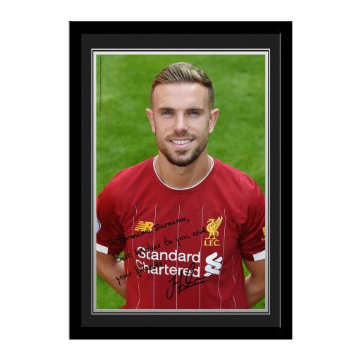 Liverpool FC Henderson Autograph Photo Framed