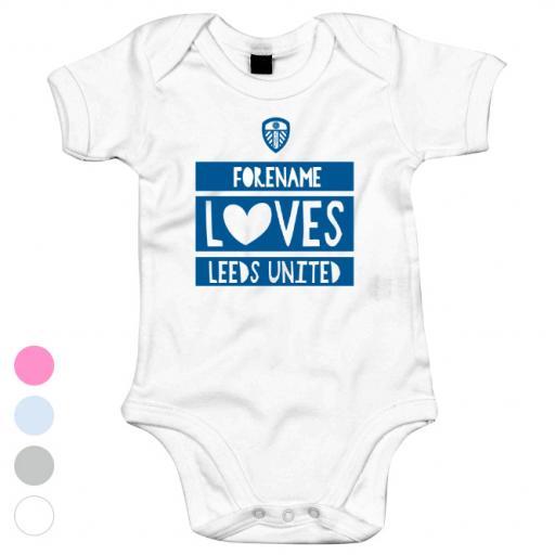 Leeds United FC Loves Baby Bodysuit