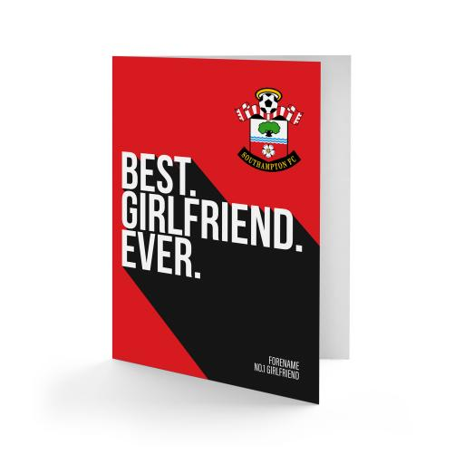Southampton FC Best Girlfriend Ever Card