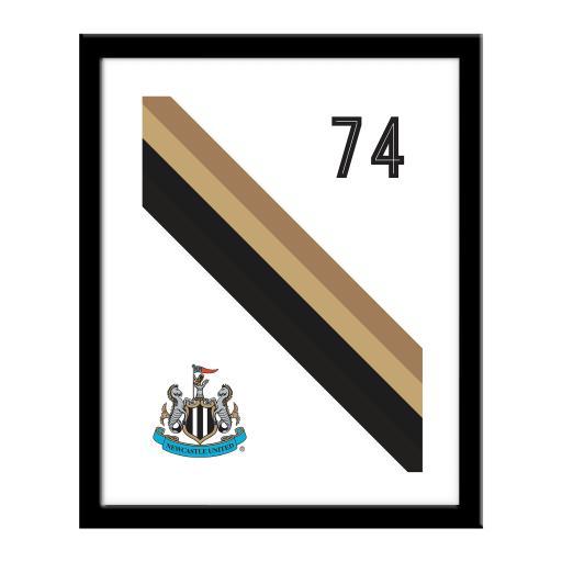 Personalised Newcastle United FC Stripe Print.