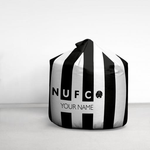 Personalised Newcastle United FC Retro Stripe Bean Bag.