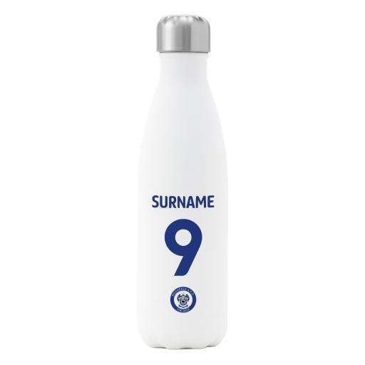 Rochdale AFC Back of Shirt Insulated Water Bottle - White