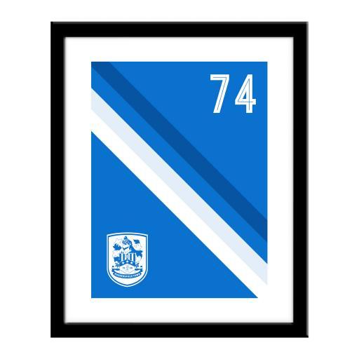 Personalised Huddersfield Town Stripe Print.