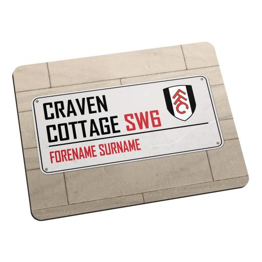 Fulham FC Street Sign Mouse Mat