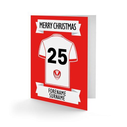 St Helens Shirt Christmas Card