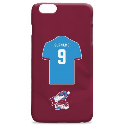 Scunthorpe United FC Shirt Hard Back Phone Case