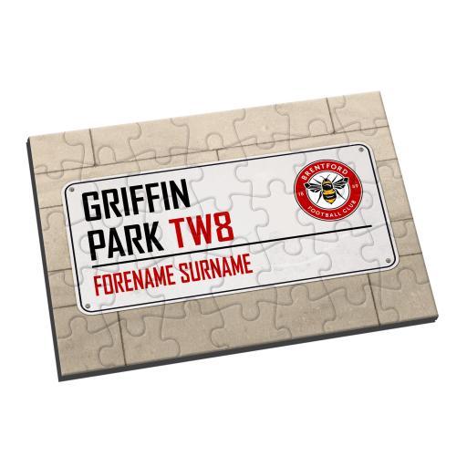 Brentford FC Street Sign Jigsaw