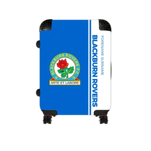 Personalised Blackburn Rovers Crest Cabin Suitcase.