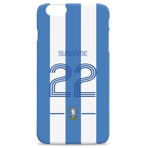 Personalised Sheffield Wednesday Retro Shirt Hard Back Phone Case.
