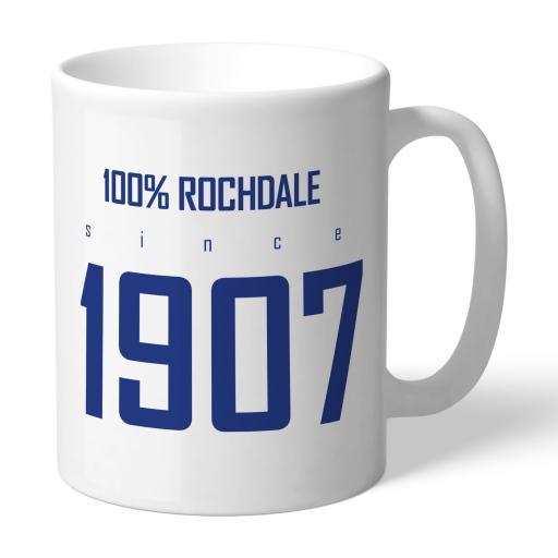 Rochdale AFC 100 Percent Mug