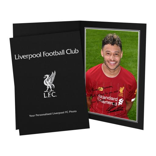 Liverpool FC Oxlade-Chamberlain Autograph Photo Folder