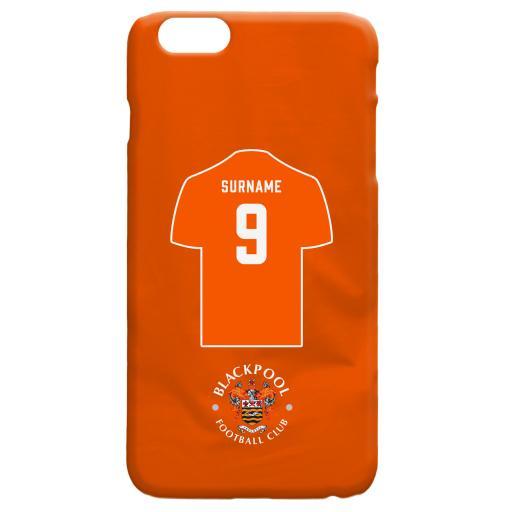 Personalised Blackpool FC Shirt Hard Back Phone Case.