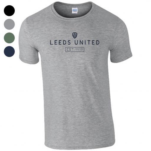Personalised Leeds United FC Minimal T-Shirt.