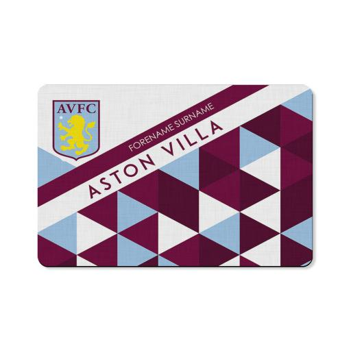 Aston Villa FC Patterned Floor Mat