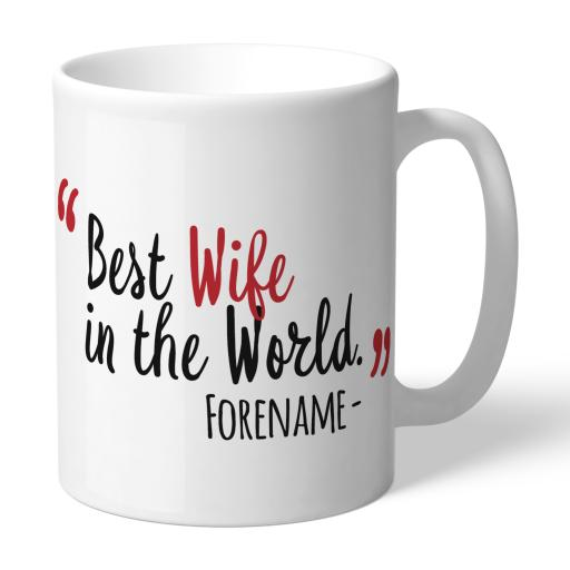 Personalised Middlesbrough Best Wife In The World Mug.