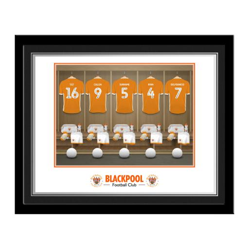 Blackpool FC Dressing Room Photo Framed