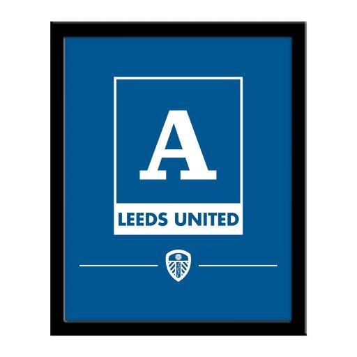 Leeds United FC Monogram 290 x 360 Framed Print