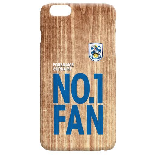 Personalised Huddersfield Town No 1 Fan Hard Back Phone Case.