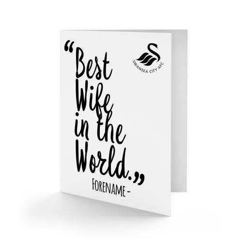 Swansea City AFC Best Wife In The World Card