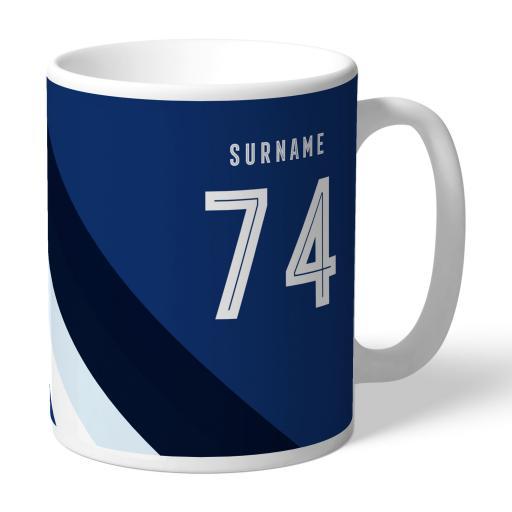 Personalised West Bromwich Albion FC Stripe Mug.