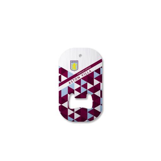Personalised Aston Villa FC Patterned Compact Bottle Opener.