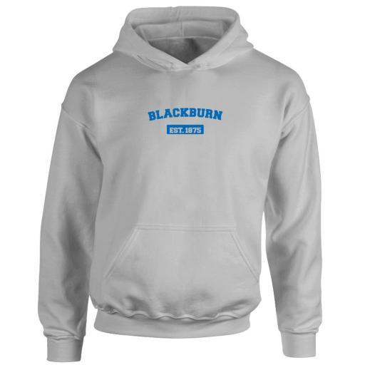 Personalised Blackburn Rovers FC Varsity Established Hoodie.