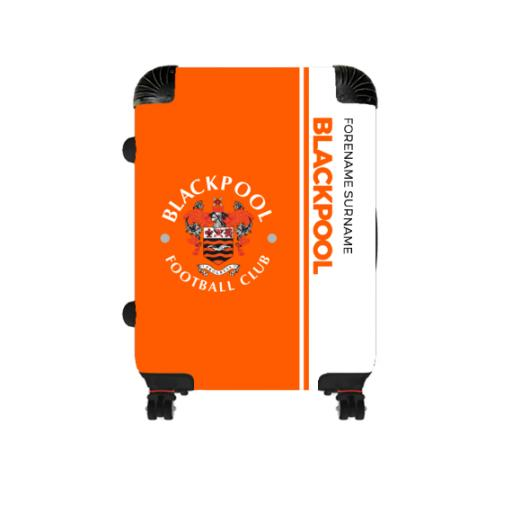 Personalised Blackpool Crest Cabin Suitcase.