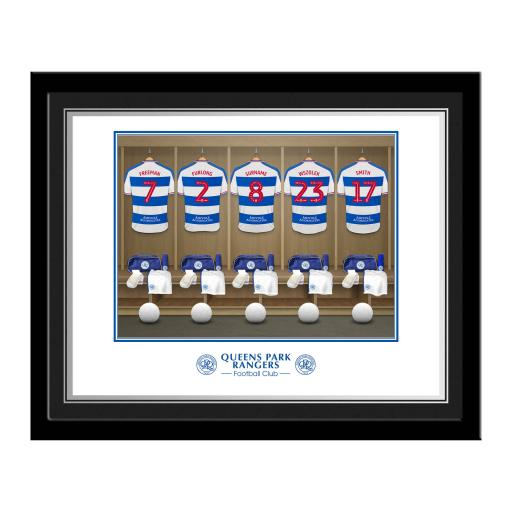Queens Park Rangers FC Dressing Room Photo Framed
