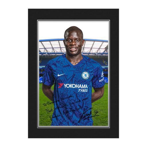 Chelsea FC Kante Autograph Photo Folder